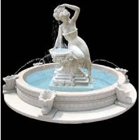 China Garden stone fountain carving statue water fountain white marble sculpture ,stone carving supplier factory