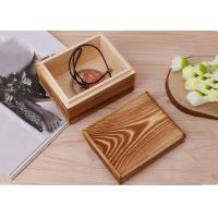 Buy cheap Rustic Handcrafted Wood Decorative Boxes , Dark Wood Standing Jewelry Box With Lid from Wholesalers
