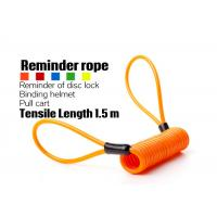 Buy cheap Extended Anti Theft Spring - Shaped Telescopic Wire Rope For Motorcycle from Wholesalers