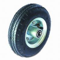 China Air Pneumatic Wheels, Suitable for Low Speed Applications factory