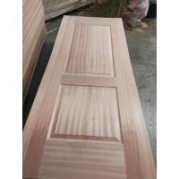 China Inside Furniture Oak Veneer Door Skin , Beautiful Door Panel Skins With Sapeli Veneer on sale