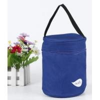 Portable blue Oxford cloth lunch insulated bag outdoor picnic bag