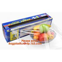Buy cheap Extended plastic cling wrap pe pvc food film with customized logo, wholesale clear PE food grade kitchen from Wholesalers