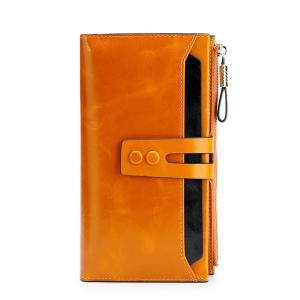 China Genuine Leather ODM 1.5cm Personalized Zipper Wallet factory