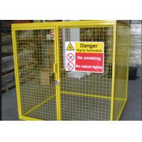Buy cheap Galvanized Steel Tube Gas Cylinder Cages High Security 900*1000*500mm from Wholesalers