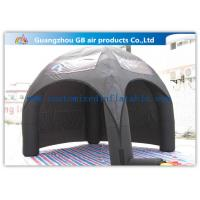 China Advertising Inflatable Air Tent , Black Blow Up Spider Dome Tent factory