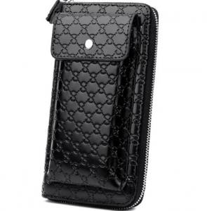 China Large Capacity PU Alligator Leather 22CM Clutch Wallet factory