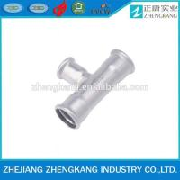 China 2015 high quality press fitting Sanitary pipe fitting reducing tee on sale