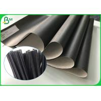 China Custom Recyclable Food Grade Kraft Paper 60gsm Printable Black Straw Paper Roll factory