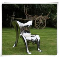 Buy cheap Modern Polished Garden Chair Stainless Steel Furniture Sculpture from Wholesalers