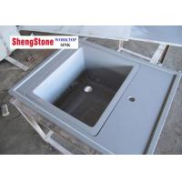 Grey Marine Sink Epoxy Resin Lab Countertops For Chemical Laboratory