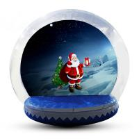 China Transparent Inflatable Human Snow Globe Photo Booth With Blower EN71 factory