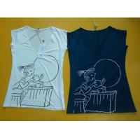 Buy cheap Casual Womens Fashion Tops V Neck Short Sleeve T Shirt Ladiess Modal Tops from Wholesalers