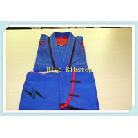 Buy cheap bjj gi jiu jitsu gi martial arts uniform kimono blue ripstop gi from Wholesalers