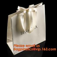China luxury paper shopping bag for jewellry, twist handle luxury print fancy brown kraft art paper carrier bag wholesale factory