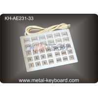Quality Custom Industrial Kiosk Stainless Steel Keyboard with 33 Keys wholesale