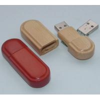 China 4GB customized logo wooden usb disk factory