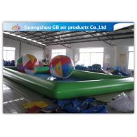 China Green Inflatable Swimming Pool Toys , Inflatable Kiddie Pools With Colorful Balls factory