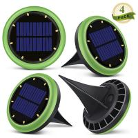 China 8 Led Solar Ground Lights Garden Solar Disk Ground Light For Night 2 Years Warranty factory