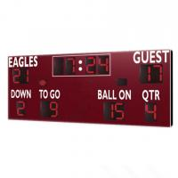 China American Type Electronice Digital LED Football Scoreboard in Red Color factory