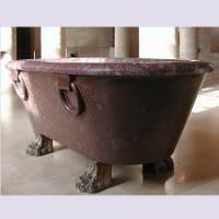 China Home deocration pink marble bathtub with polish surface for bathroom,china sculpture supplier factory