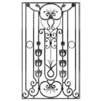 China wrought iron gate frame component factory