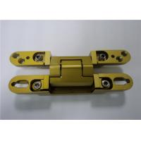 China Chrome Painted / Gold Painted 3D Adjustable Concealed Hinge 135x18x21 mm factory