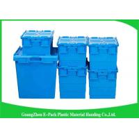 Buy cheap Nestable Plastic Attached Lid Containers ,  Industrial Storage Turnover Crate from Wholesalers