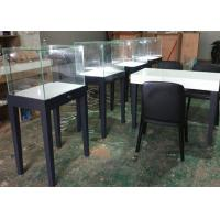 Large Qty Exhibition Display Cases Matte Gray Color Modern Simple Design