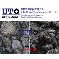 Buy cheap tire cord fabric shredder/  rubber fabric shredder/ two shaft shredder/ two engines crusher/ impregnated fabric shredder from Wholesalers