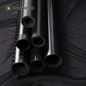 China 3 Inch 3k Fiberglass Mast Telescopic Carbon Fiber Tube factory