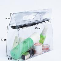 Buy cheap Transparent Travel Kit Makeup Organizer Pouch with Punching Holes Handles from Wholesalers