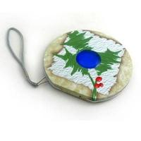 Buy cheap Tin CD bag round cd metal case with riveted handle and zipper zipper round cd case from Wholesalers