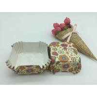 Buy cheap Food Safe PET Paper Baking Cups Disposable Cute Special Pattern For Cupcake / Bread from Wholesalers