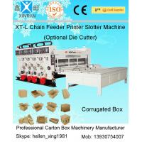 Buy cheap Chain Feeder Printing Carton Box Making Machine with Slotting Die Cutting from Wholesalers