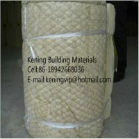 China Rock wool blanket insulation with wire mesh on sale