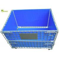 Buy cheap Stacking Turnover Container Warehouse Shelves Storage Metal Pallet Bins Crates from wholesalers