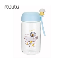 China 280ml High Borosilicate Glass Children'S School Water Bottles factory