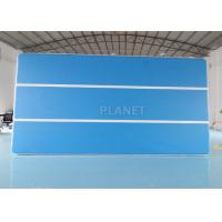 China blue Color 6x3x0.2m Inflatable Air Track Gymnastics Air Tumbling Track Swimming Pool Floating Mat factory
