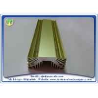 Buy cheap Golden Anodized Extruded Aluminum Profile Radiators / Heat Sink 6063- T5 from Wholesalers