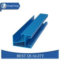 China Industrial Blue Aluminum Extrusion Profiles Non Polished For Door Frame factory