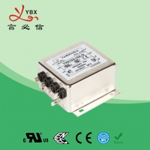 China Industrial 3A 440V Inverter EMI Filter / Three Phase EMI Filter factory