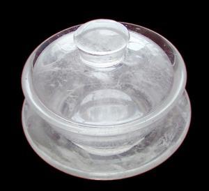 China Direct selling quartz tableware fused quartz products industrial high temperature resistant material quartz jewelry cust factory