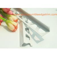 Buy cheap White Right Angle Metal Tile Trim 10mm For Tile Edging Protection from Wholesalers