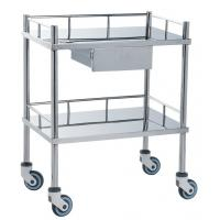 Buy cheap Movable Medical Clinical Trolley Stainless Steel With Two Shelves And One Drawer from Wholesalers