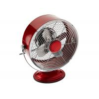 Buy cheap Red 9 Inch Portable Vintage Electric Fan / Two Speed Air Circulator Retro Table Fan from Wholesalers