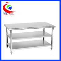 China Easy clean 201  Stainless Steel Work Table  for commercial kitchen factory