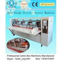 China Vertical Paper Slitting Carton Cutting Machine With For Pressing / Folding factory