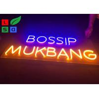 China 220-240V 3D Clear Channel Neon Signage And Customised Neon Letter Signs on sale