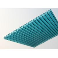 China Lake Blue Polycarbonate Sheet , Embossed Hollow Polycarbonate Roof Panel factory
